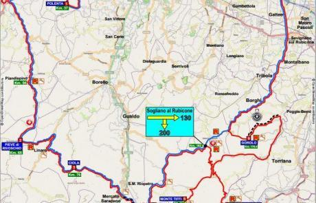 Nove Colli Granfondo route