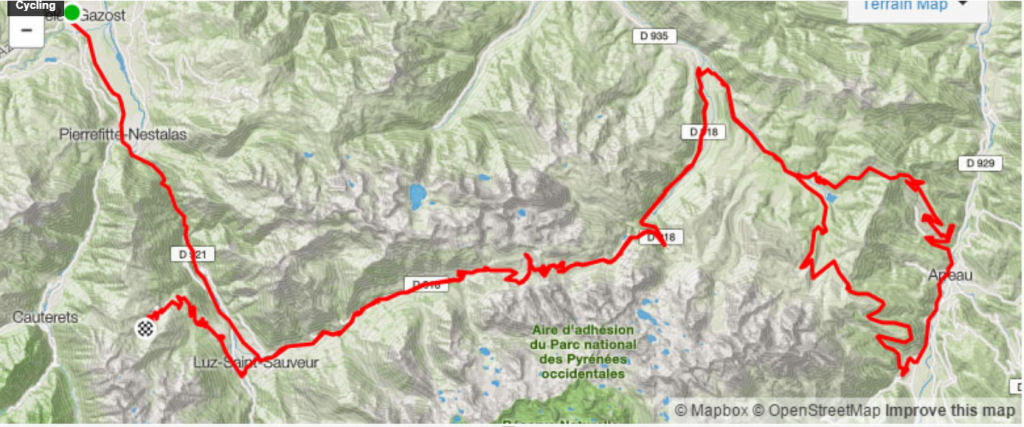 Route Marmotte Pyreneeen 2020